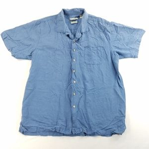 Batik Bay Button Down Short Sleeve Shirt 100% Silk